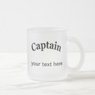Captain para personalizar taza de cristal