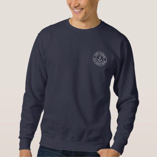 Captain Personalized Anchor Logo Sweatshirt