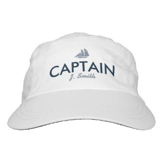 Captain Personalized Blue and White Hat