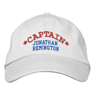 CAPTAIN Personalized First Last NameAdjustable Hat