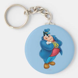 Captain Pete Basic Round Button Keychain