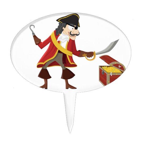 Captain pirate cake topper