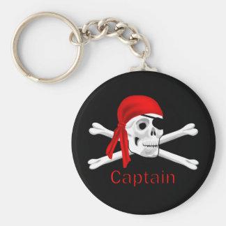 Captain Pirate Skull & Crossbones Keychain 2