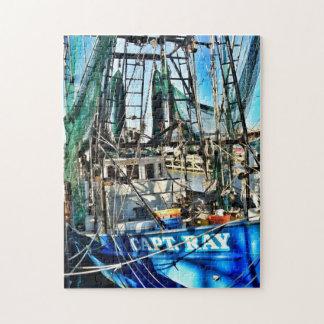 Captain Ray Shrimp Boat Jigsaw Puzzle