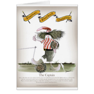 captain red white stripes card