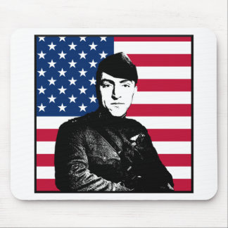 Captain Rickenbacker and The American Flag Mousepad