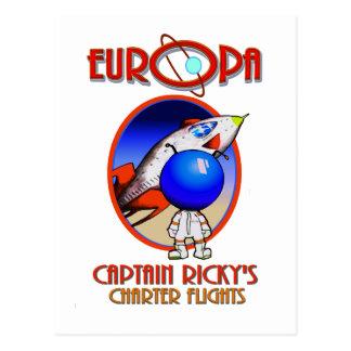 CAPTAIN RICKYS CHARTER FLIGHTS -EUROPA POSTCARD
