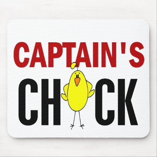 Captain's Chick Mouse Pad