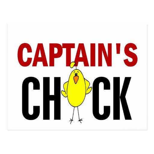 Captain's Chick Postcard