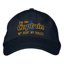 Captain says My Boat My Rules Embroidered Baseball Cap