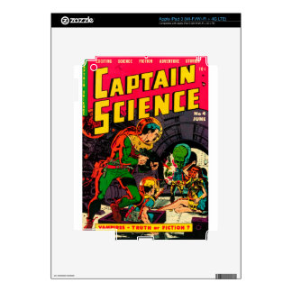 Captain Science -- Vampires: Truth or Fiction? iPad 3 Decals