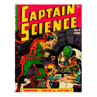 Captain Science -- Vampires: Truth or Fiction? Postcard