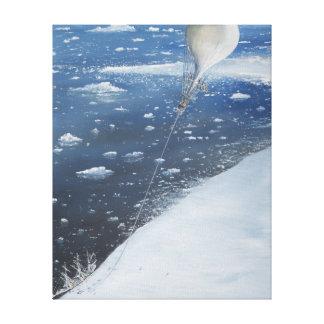 Captain Scott Antarctica's first Aeronaut. 4th Canvas Print