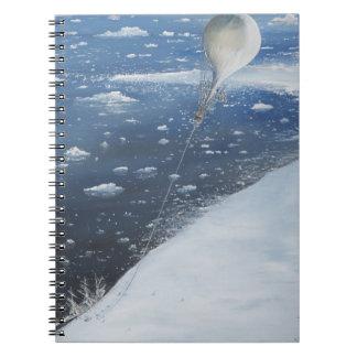 Captain Scott Antarctica's first Aeronaut. 4th Spiral Notebook