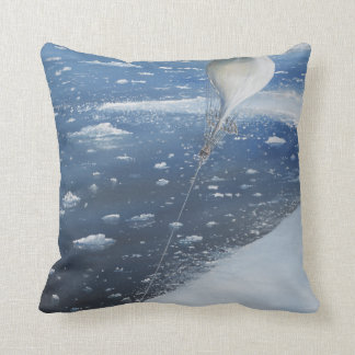 Captain Scott Antarctica's first Aeronaut. 4th Throw Pillow