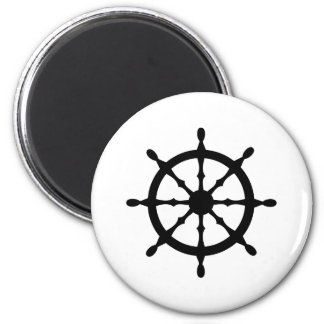 captain ship steering wheel 2 inch round magnet