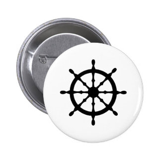 captain ship steering wheel pinback buttons