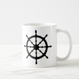 captain ship steering wheel coffee mug