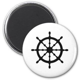 captain ship steering wheel refrigerator magnet