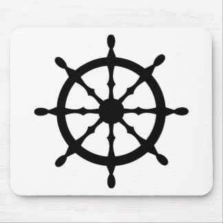 captain ship steering wheel mouse pad