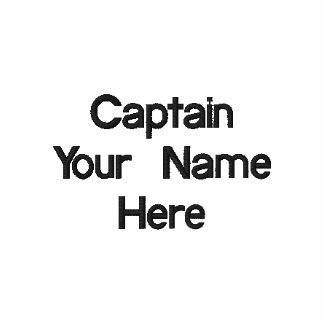 Captain Shirt with Embroidered Name