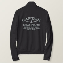 Captain Silver Star Anchor Easily Personalized Embroidered Jacket
