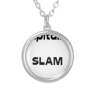 Captain SLAM - Word games - François City Silver Plated Necklace