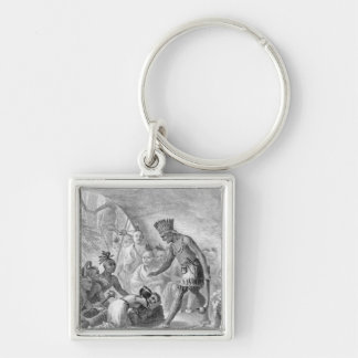 Captain Smith rescued by Pocahontas Keychain
