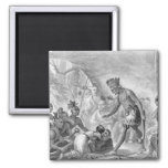 Captain Smith rescued by Pocahontas 2 Inch Square Magnet