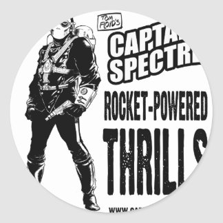 Captain Spectre and the Lightning Legion Classic Round Sticker