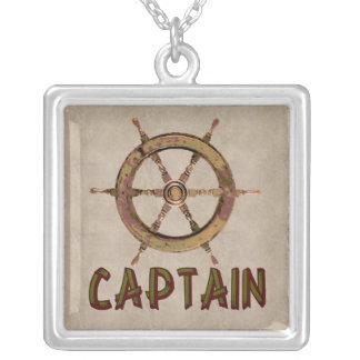Captain Square Pendant Necklace