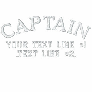 Captain Star Anchor with Your Text and initials Embroidered Polo Shirt