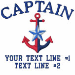 Captain Star Your Boat Name Your Name or Both Polo Shirt