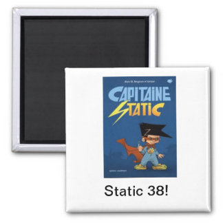Captain Static 2 Inch Square Magnet
