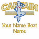 Captain Stripes Mermaid Personalize it! Embroidered Jackets