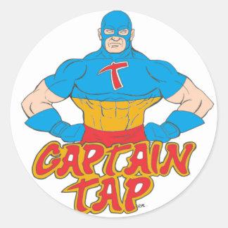 Captain Tap! Classic Round Sticker