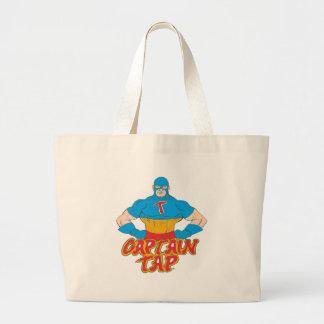 Captain Tap! Large Tote Bag