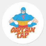 Captain Tap! Round Sticker