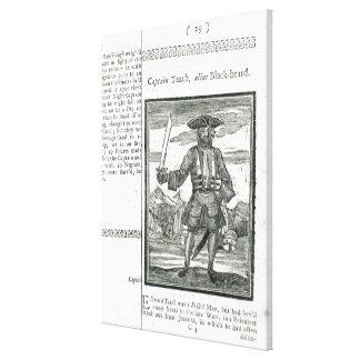 Captain Teach, Alias Black Beard Canvas Print