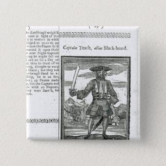 Captain Teach, Alias Black Beard Pinback Button