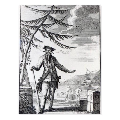 Captain Teach, commonly called Blackbeard Postcards