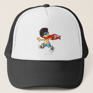 Captain Thunderbolt battles the Worm Trucker Hat