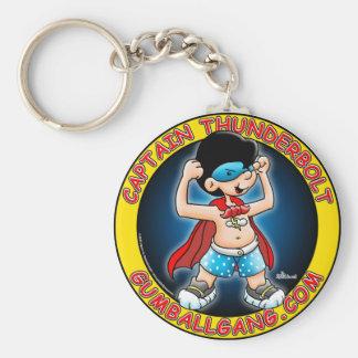 Captain Thunderbolt insignia Basic Round Button Keychain