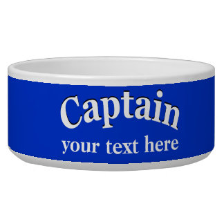Captain to Personalize Bowl