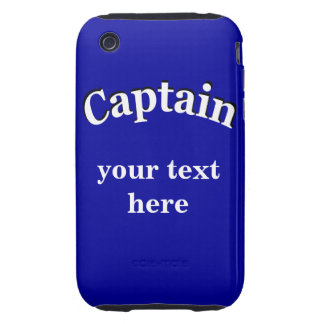Captain to Personalize iPhone 3 Tough Case