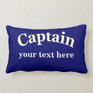 Captain to Personalize Lumbar Pillow