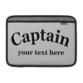 Captain to Personalize MacBook Air Sleeve