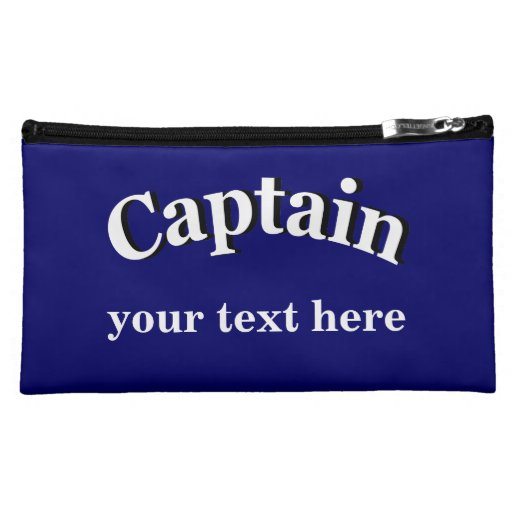 Captain to Personalize Makeup Bags
