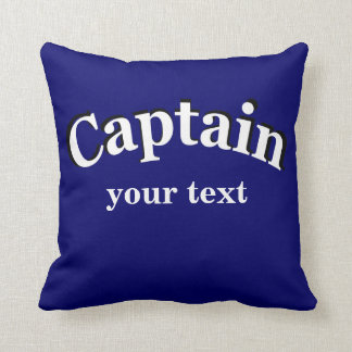 Captain to Personalize Throw Pillows