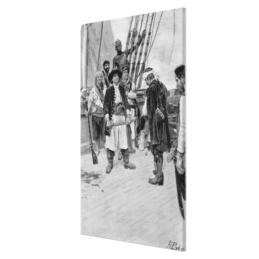 Captain Tongrelow Took the Biggest, illustration Canvas Print